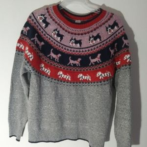 Holiday time dog sweater